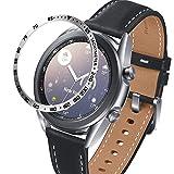 Songsier Anillo de Bisel Compatible con Galaxy Watch 3 41mm, Smart Watch Bisel Cubierta Adhesiva de Acero Inoxidable Antiarañazos Protector
