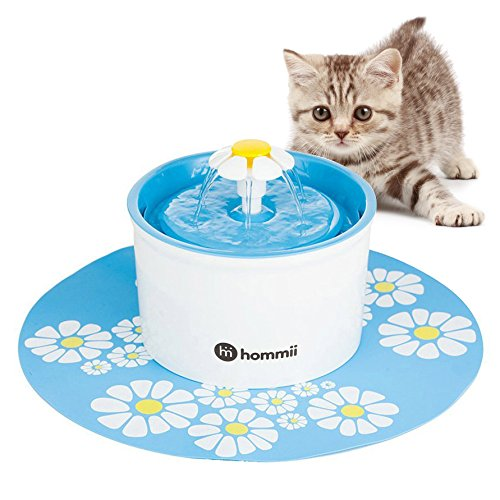 4 PACKS Rhodesy Cat Water Fountain Filters for Cat Drinking Flower Fountains Square Pet Fountain Replacement Filters with Resin and Active Carbon