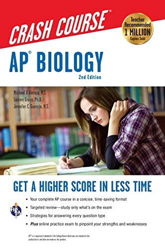 AP® Biology Crash Course, 2nd Ed.,  Book + Online: Get a Higher Score in Less Time (Advanced Placement (AP) Crash Course