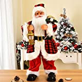 67Cm Decoraciones Navideñas para El Hogar Eléctrico con Música Papá Noel Grande Tocando El Violín Año Nuevo para Niños