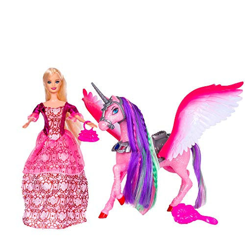 Bettina Princess Doll and Unicorn, Unicorn Gifts for Girls, Fashion Playset with Sparkle Unicorn