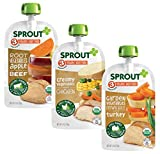 Sprout Organic Stage 3 Baby Food Pouches, Meat Variety, 4 Ounce (Pack of 18) 6 of Each: Root Veg Apple w/...