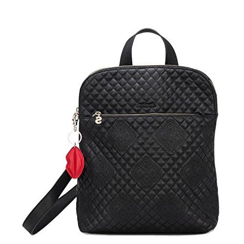Desigual - Bolso mochila para mujer * Talla única Negro Talla única