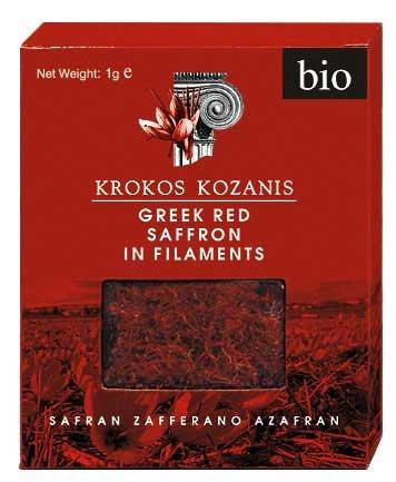 Krokos Kozanis Organic Red Saffron in Flaments 1 g x 6