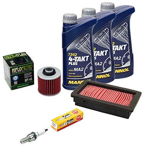Wartungspaket Öl 3L + Luftfilter + Ölfilter + Zündkerze für Yamaha MT-03 660 XT 660 XT660 RM02 DM01