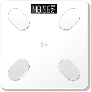 Báscula Grasa 0.1-180kg Baño Smart Bluetooth App Balanza De Peso Digital Electrónica Balanza De Grasa Corporal Balanza De Pesas Accesorios De Baño