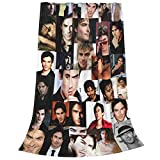 Damon Salvatore Blankets Throws Plush Fuzzy Flannel for Girls Teens Women Bedroom Sofa Home Office Couch Travel Car Cozy Nap
