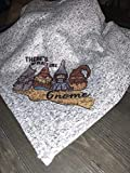 No place like gnome Wizard of oz gnomes throw blanket