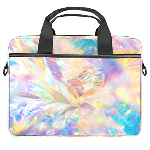 Glittering Pattern Laptop Bag Messenger Bag Slim Briefcase with Crossbody Shoulder Bag Computer Bag Computer and Tablet Carrying Case for 13.4-14.5In