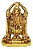 athizay Lord Balaji | Lord Venkateswara | Incarnation of Lord Vishnu Sculpture | Virgin Brass Golden Finish