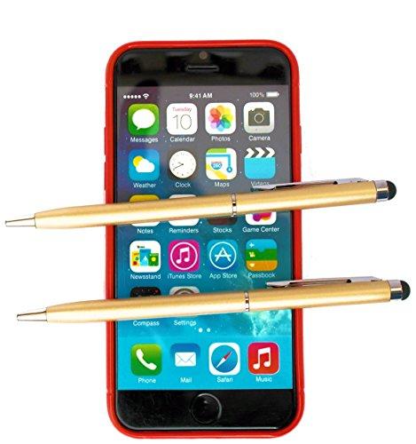 tomaxx Kompatibel für Huawei P8, Huawei P8 Lite, Huawei P8 Max, Huawei Ascend P7 2X Gold Stylus Pen - Eingabestift + Kugelschreiber