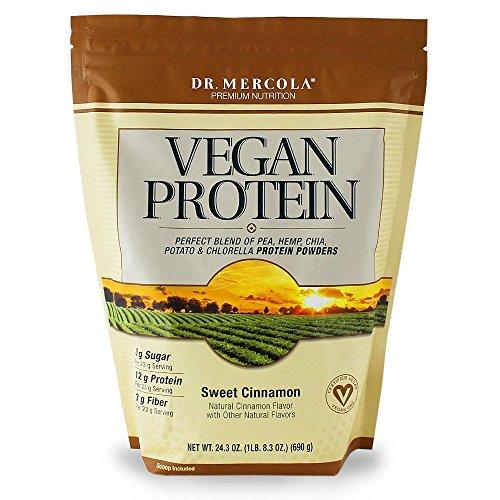 Dr Mercola Vegan Protein (Sweet Cinnamon Flavour, 690g) by Dr. Mercola