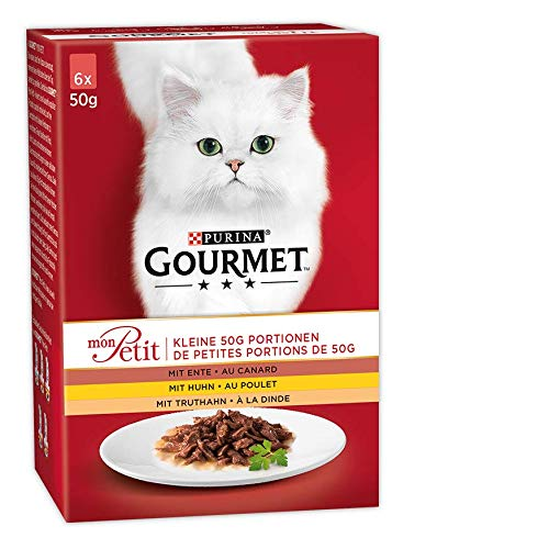Purina GOURMET Mon Petit Katzennassfutter Geflügel-Variationen, 8er Pack (8 x 6 x 50 g) Packung