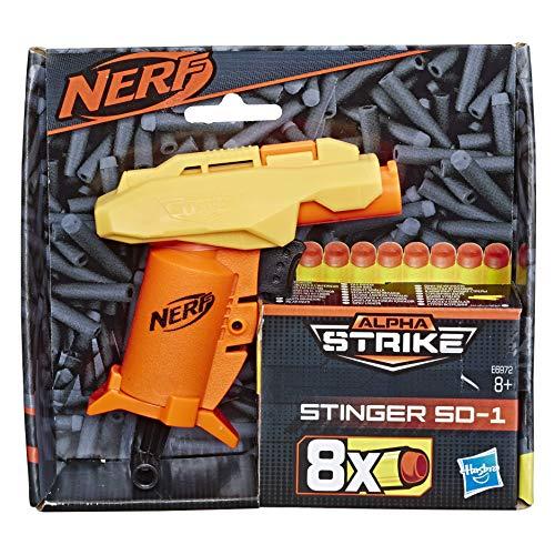 Nerf Alpha Strike Stinger SD-1 Toy Blaster - Includes 8 Official Nerf Elite Darts - for Kids, Teens, Adults