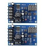 nJiaMe Carga de la batería del módulo de conmutador Junta XH-M603 12-24 Control de Voltaje de Carga Protección de Pantalla 2 Piezas