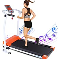 Ancheer Indoor Exercise Machine Trainer Walking Running Treadmill with LCD Monitor Motorized