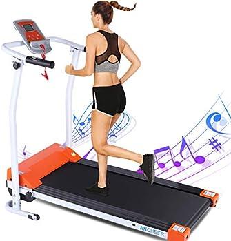 Ancheer Indoor Exercise Machine Trainer Walking Running Treadmill