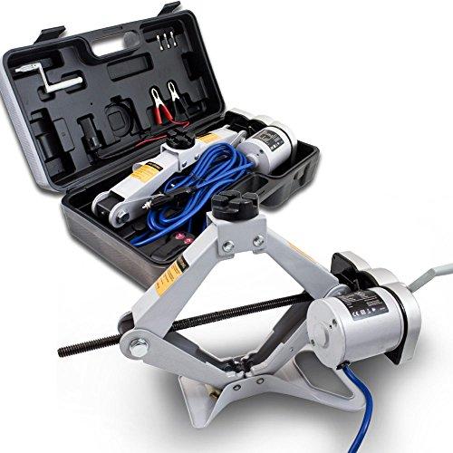 BITUXX® Elektrischer Wagenheber Scherenwagenheber Autoheber KFZ Auto PKW 12V 2T 2000Kg