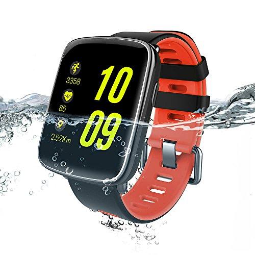 Makibes, fitness tracker, ID107Plus, braccialetto per attività sportiva con Bluetooth, cardiofrequenzimetro, contapassi, con previsioni meteo, per smartphone Android e iOS