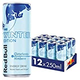 Red Bull Energy Drink Winter Edition Gletschereis Himbeere Dosen Getränke, 12er Pack (12 x 250 ml)