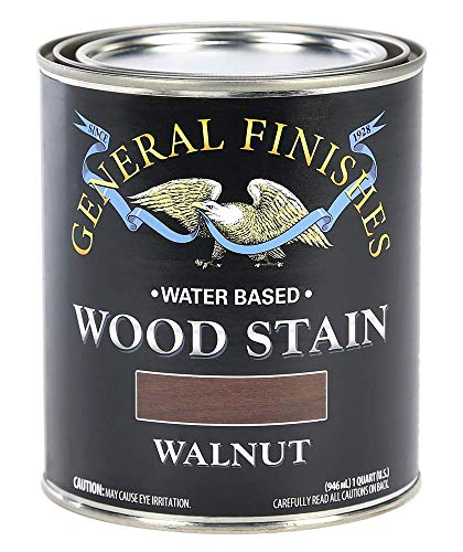 General Finishes Water Based Wood Stain, 1 Quart, Walnut