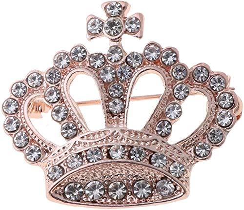 KEEBON 3 unids Rhinestone Crown Mujeres Broche Pin Patrimonio Vintage Pin de Solapa para Ropa suéter Chal Clips broches