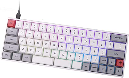 Epomaker Sk66 60 Keys Wired Mechanical Gaming Keyboard Computers Accessories