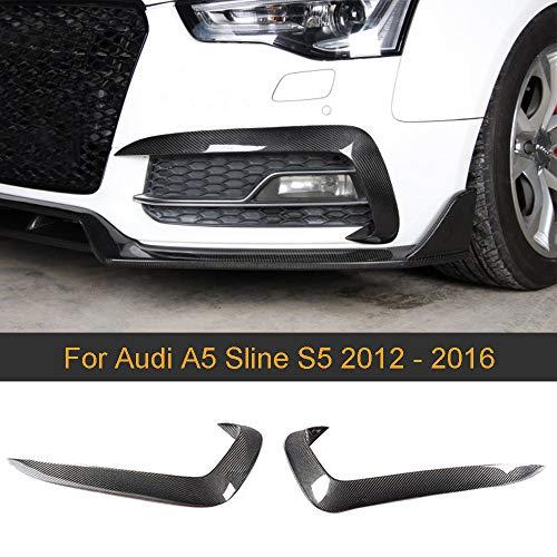Super Eight 1 Paar Kohlefaser Auto Nebelscheinwerfer Lampe Canards Splitter Lamellen Für Audi A5 Sline S5 2012-2016 Auto Aufkleber Spoiler