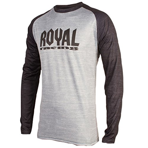 Royal Racing Maillot Heritage Manches Longues-Gris/Noir-XL Homme, FR Taille Fabricant