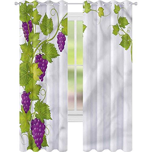 jinguizi Cortinas opacas para decoración del hogar del viñedo italiano latino artístico W42 x L84