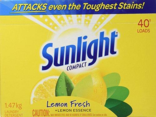 Sunlight Lemon Fresh Powder Laundry Detergent, 40 Wash Loads 1.47 Kg