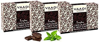Vaadi Herbals Value Tempting Chocolate and Mint Soap, Deep Moisturising Therapy, 3 x 75g