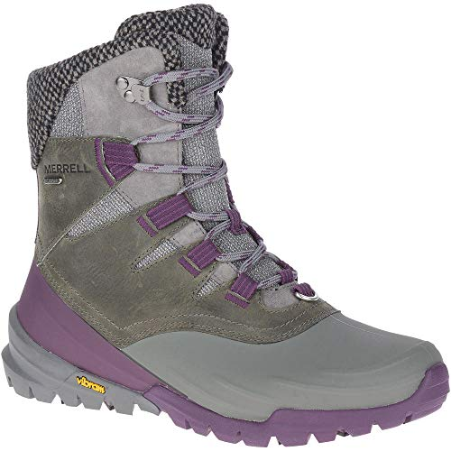 Merrell Women's Thermo Aurora 2 Mid Shell Water-proof Snow Boot, Grey, 8 thumbnail