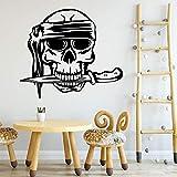 Tianpengyuanshuai Horror Pirata Cabeza decoración Ambiental Pegatinas Decorativas Adhesivos de Pared 30X34cm