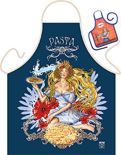 Pasta Arte – Fun Tablier humoristique pour fêtes et mini pour la bouteille