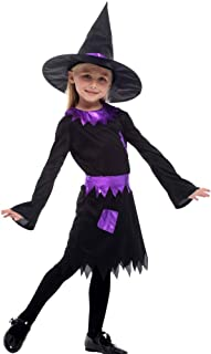 Halloween Kids Dressing Up Costumes Fancy Dress Ball Witch Costumes Cute Girls Cosplay (Color : Black, Size : M)