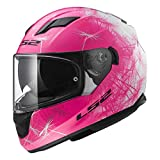 LS2 Helmets Full Face Stream Street Helmet (Wind White/Pink - Medium)