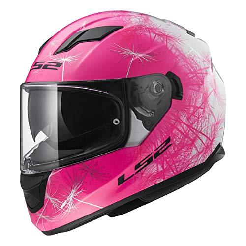 LS2 Helmets Full Face Stream Street Helmet (Wind White/Pink - Medium)