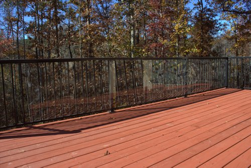 Cardinal Gates Outdoor Deck Shield for Pets, 15-Feet, Clear