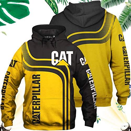 DWWW Peerless 2020 Nieuwe Caterpillar Lange Mouwen Mannen Tractor Hoodies Mode Koele Gedrukte Kat Power Hooded Sweatshirt Casual Pullover Tops