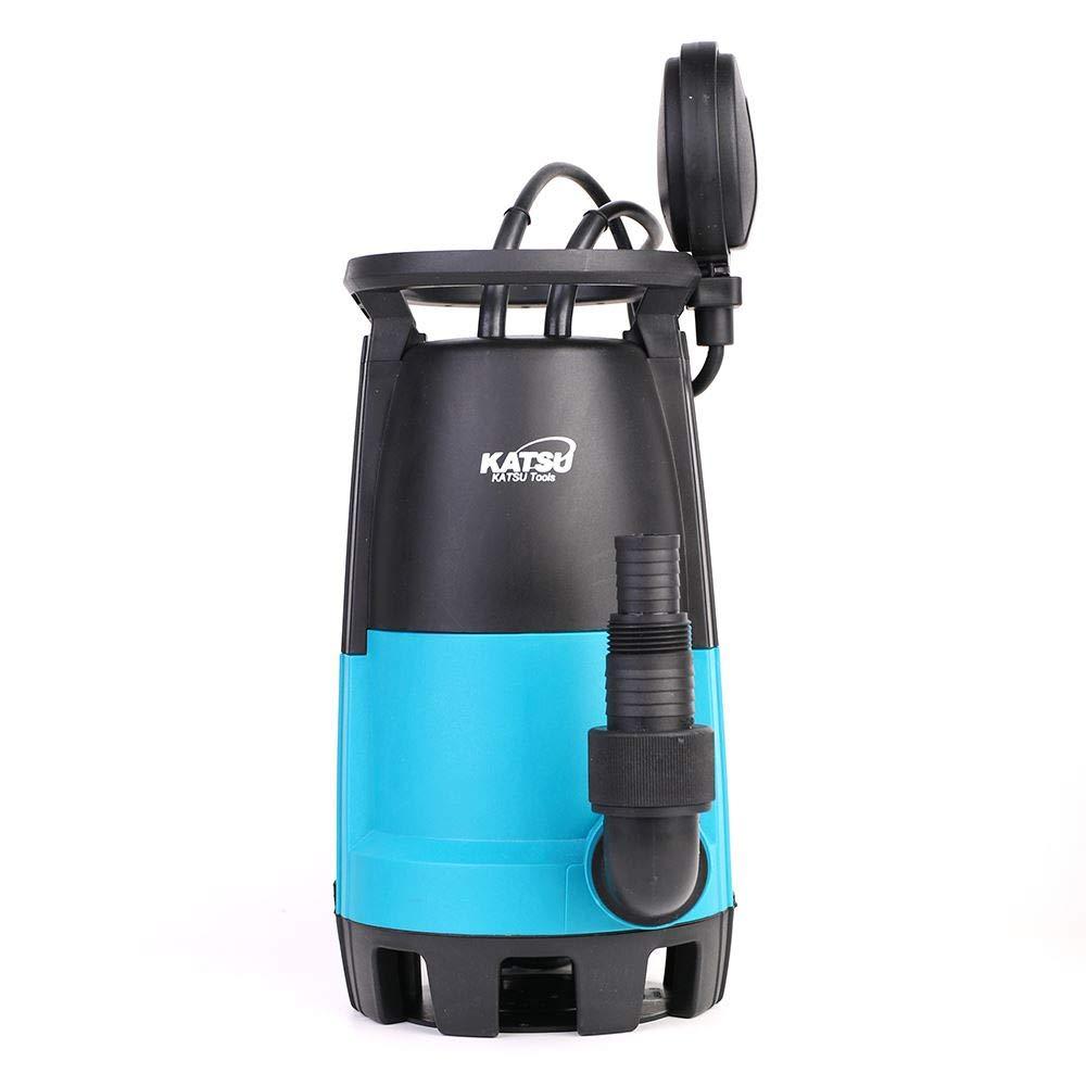 Bomba sumergible portátil KATSU 900W para agua limpia y sucia 18000L / h para estanque de jardín, piscinas, zanjas + interruptor de flotador + base intercambiable: Amazon.es: Bricolaje y herramientas