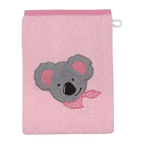 Wörner Gant de toilette 15 x 21 cm GOTS gant de toilette bébé, rose