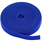 Monoprice Hook & Loop Fastening Tape 5 Yard/roll, 0.75-inch - Blue (105830)