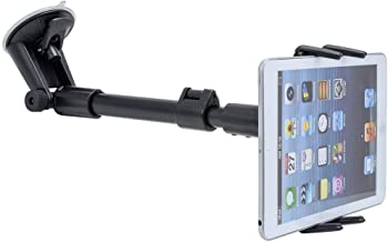 Digitl 2-in-1 Cell Phone Windshield Car Mount or Tablet Car Holder w/Robust Arm Extender Suction Cup and Swivel Cradle for Apple iPhone XS MAX XS X XR 8/8 Plus 7/7 Plus iPad Mini (all 4-8