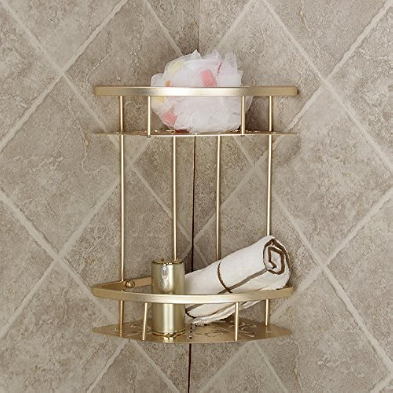 The golden Tripod brushed light racks aluminum space corner corner racks