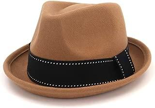 Men Women Fedora Hat with Black Belt Adult Hat Pop Jazz Hat Panama Hat Size 56-58CM. XGCCDAUha (Color : Coffee, Size : 56-58)