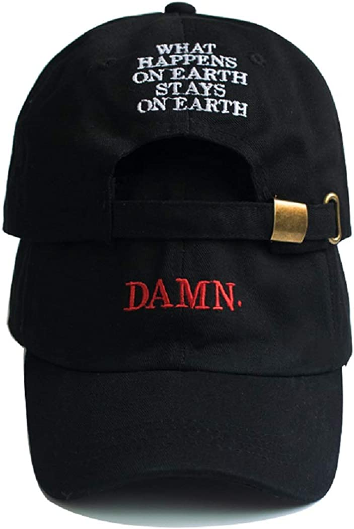 RyuLifeStyle Damn Embroidered Max 41% OFF Hip Hop Max 89% OFF Cap Rapper Lamar Kendrick