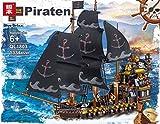 BlueBrixx QL1803 Marke ZHE GAO – Piratenschiff - große Galeone aus Klemmbausteinen mit 1334 Bauelementen. Kompatibel mit Lego. Lieferung in Originalverpackung.