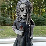 Horror-Film-Gartenzwerg, Zombie-Zwerg, gruselig, untot, Halloween-Skulptur, von Hand geschnitzt, Zwerg-Statue, tolles Geschenk für Horrorfilliebhaber (Karen Cooper)