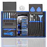 80 IN 1 Professional Computer Repair Tool Kit, Precision Laptop Screwdriver Set, with 56 Bit, Anti-Static Wrist and 24 Repair Tools, Suitable for Macbook, PC, Tablet, PS4, Xbox Controller Repair…